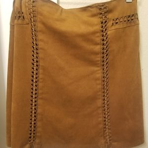 Faux Suede Skirt - 18W